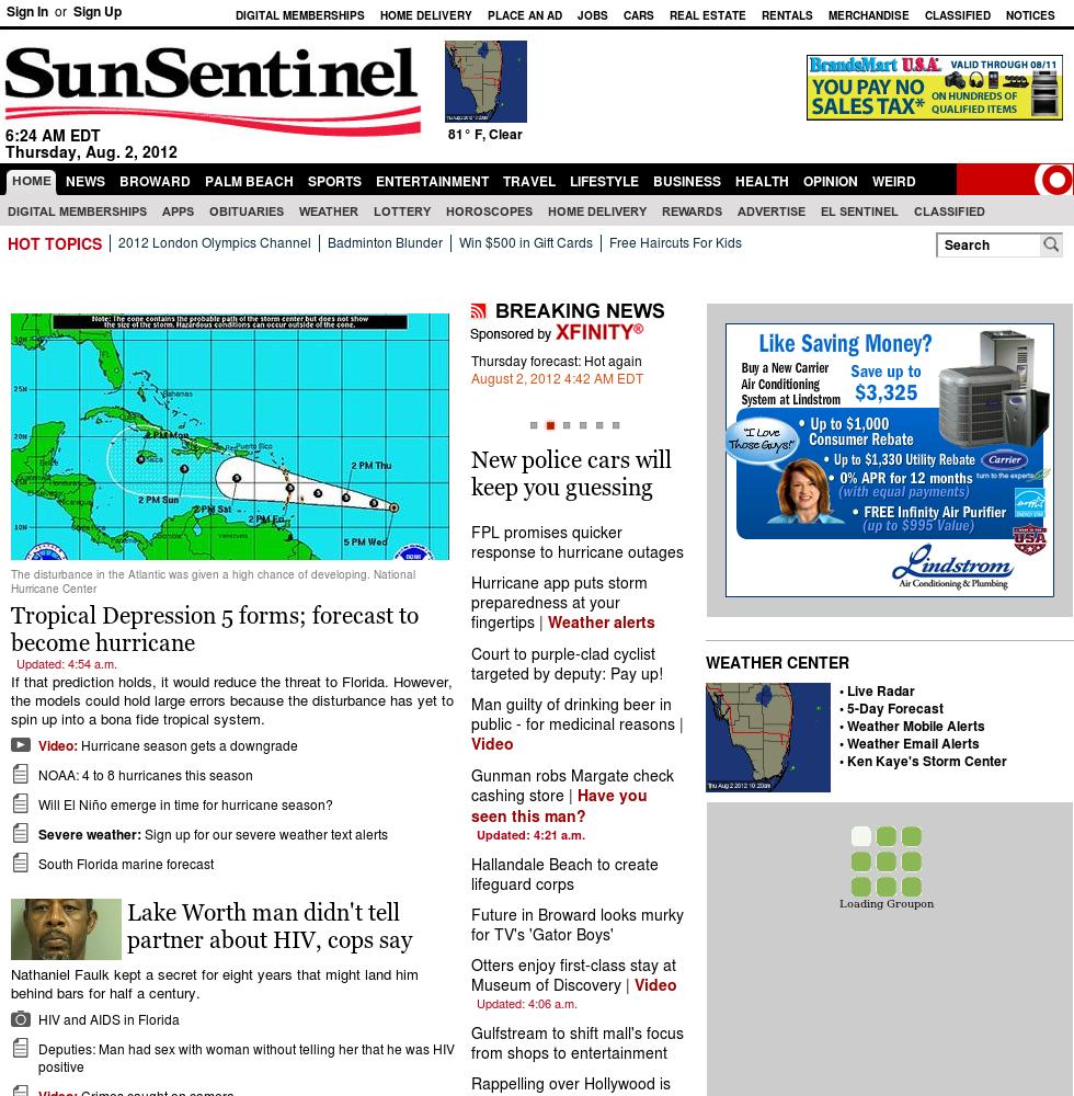 (Florida) Sun Sentinel